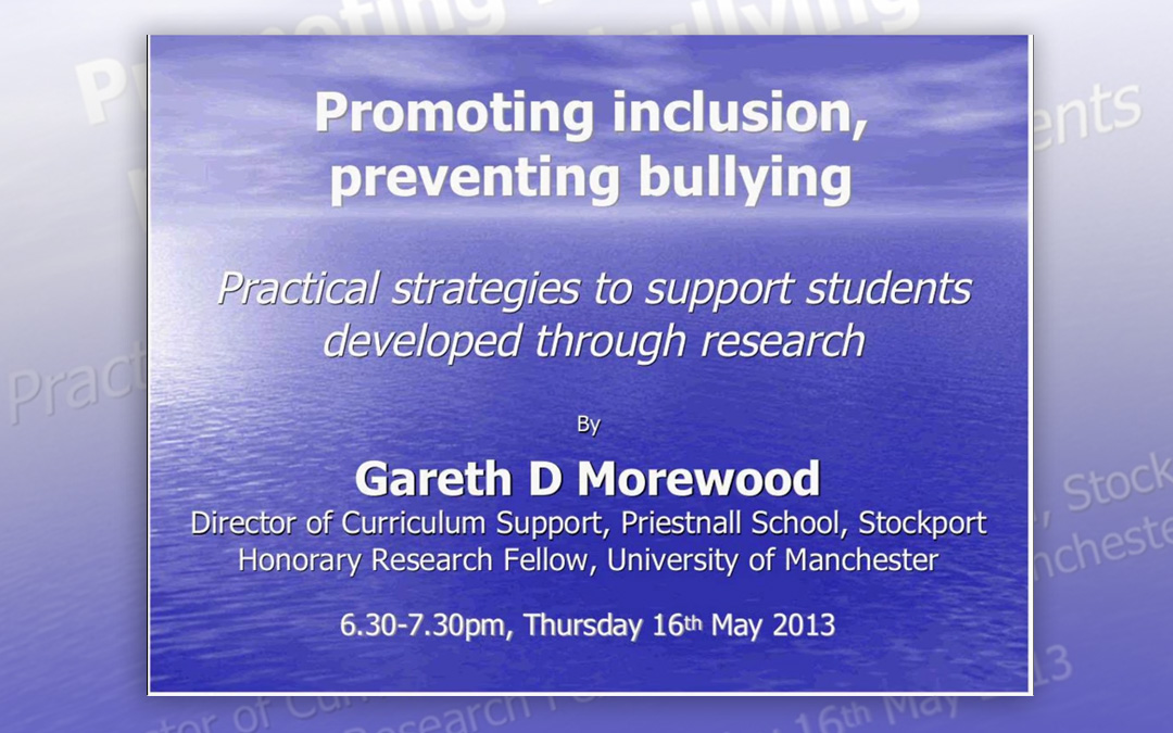 Promoting inclusion, preventing bullying