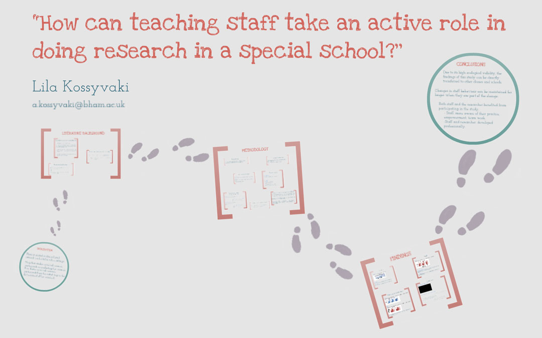 How can teaching staff take an active role in doing research in a special school?