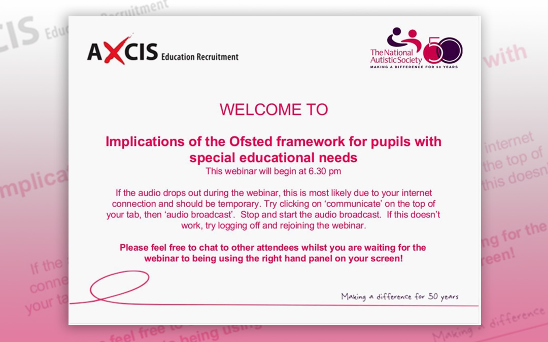 Implications of the Ofsted framework for pupils with special educational needs