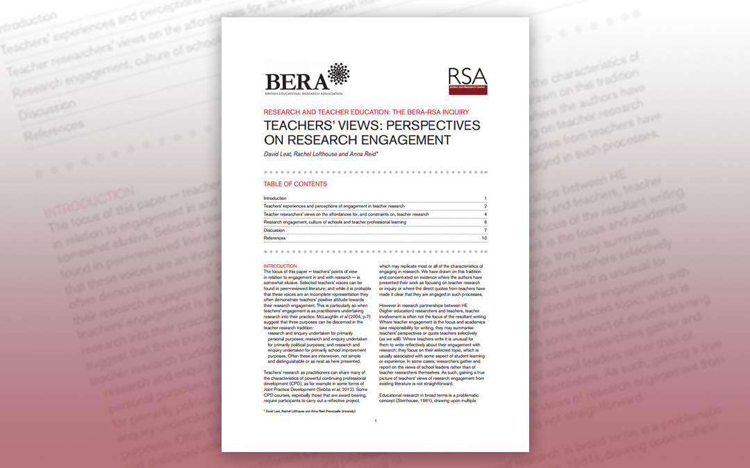 Teachers' views: Perspectives on research engagement